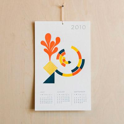 Seesaw Letterpress 2010 Calendar