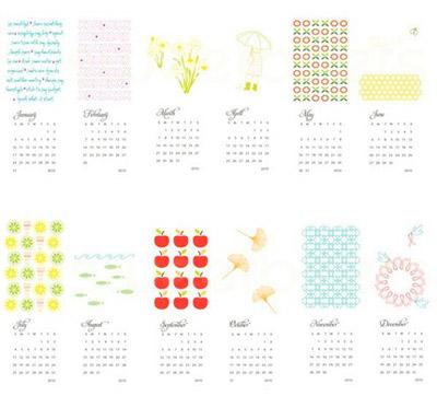 Sweetbeets Printable 2010 Calendar