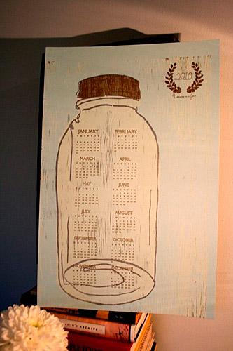 Mason Jar Calendar