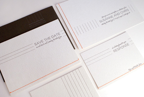 Gilah Letterpress Wedding Invitations