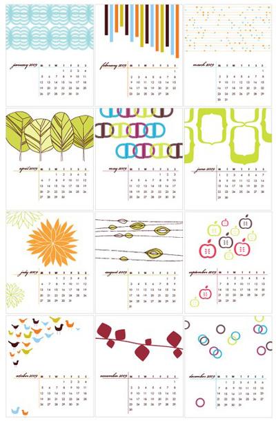 Avie Designs 2009 Calendar