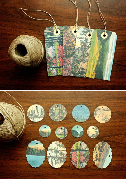 Benign Objects Vintage Postcard Tags