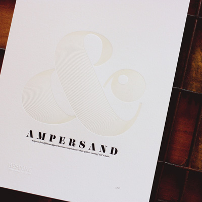 Bespoke Press Letterpress Ampersand Print