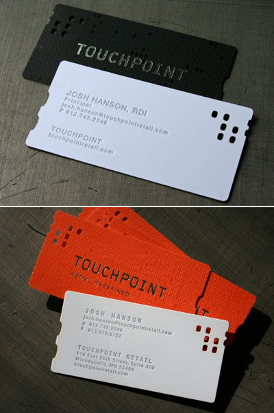 Touchpoint Letterpress Business Cards