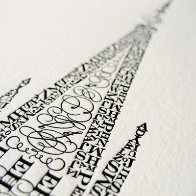 Cameron Moll Letterpress Poster Detail