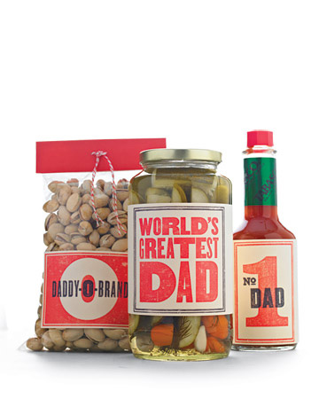 Retro Father's Day Labels Martha Stewart