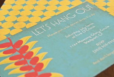 DIY Let's Hang Out Wedding Invitations
