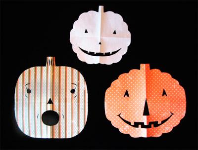 Paper Snowflake Pumpkins