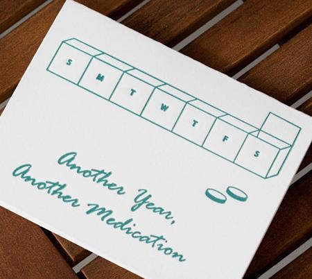 Letterpress Brithday Card