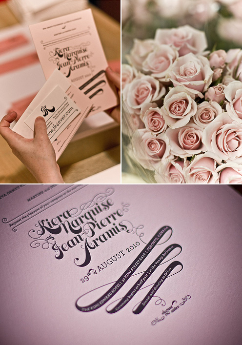 JP + Kiera Letterpress Wedding Invitations