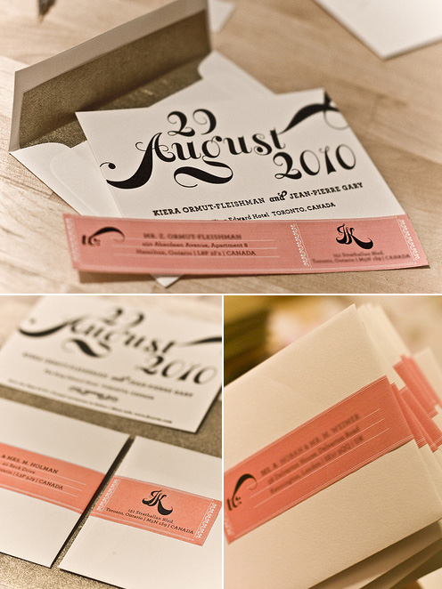 JP + Kiera Letterpress Save the Dates