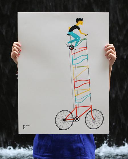 Barrel Tall Bike Poster