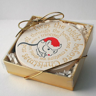 1915 Press Letterpress Holiday Coasters