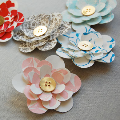 Letterpress Flower Pins