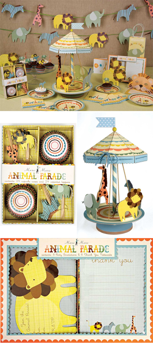 Meri Meri Animal Parade Party Kit