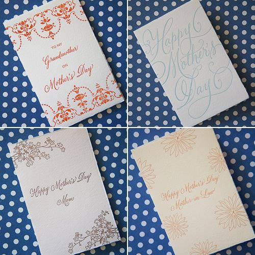 Tallulah Letterpress Mother's Day Cards