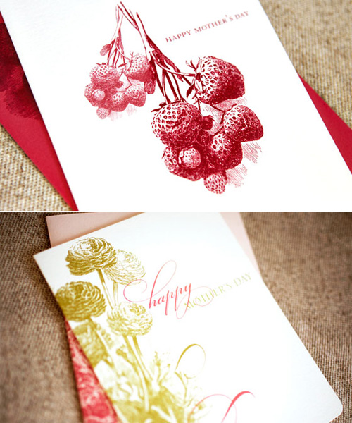 Wiley Valentine Letterpress Mother's Day Card