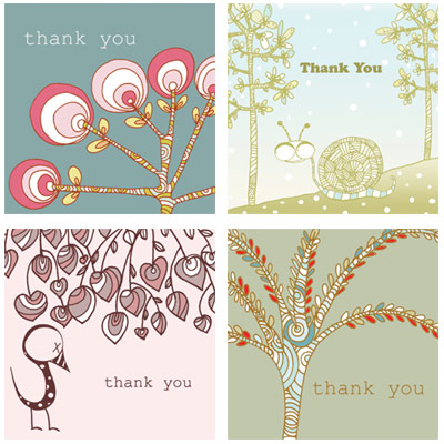 Red Cap Thank You Cards