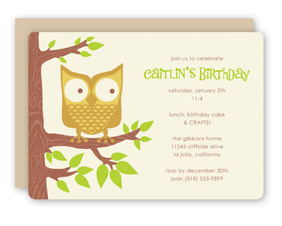Rock Scissor Paper Owl Invitations