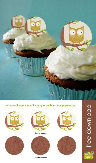 Rock Scissor Paper Cupcake Toppers
