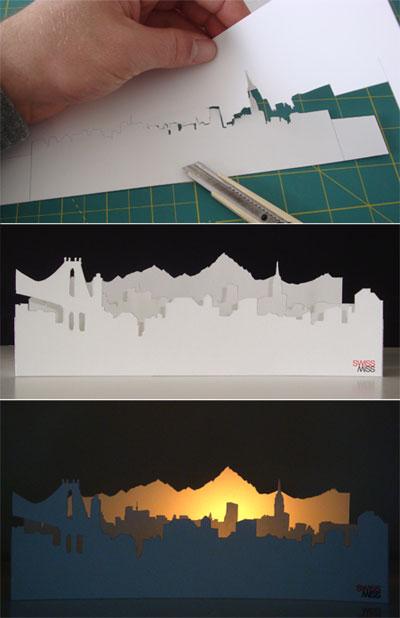 Swissmiss Alpenglow Paper Craft Project