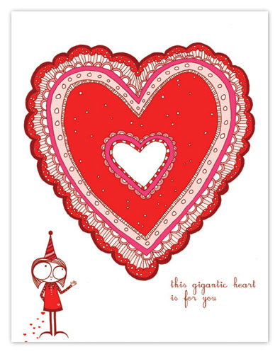 Red Cap Valentine's Day Cards