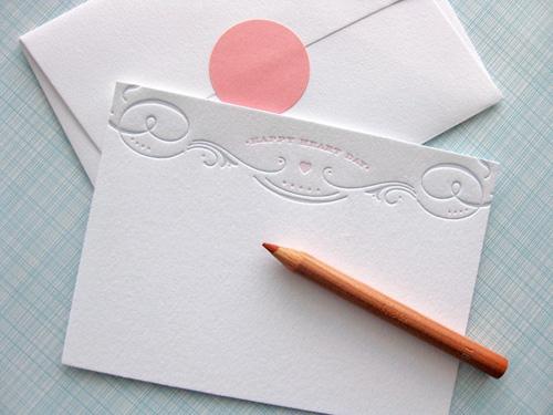 Duet Letterpress Valentine's Day Cards
