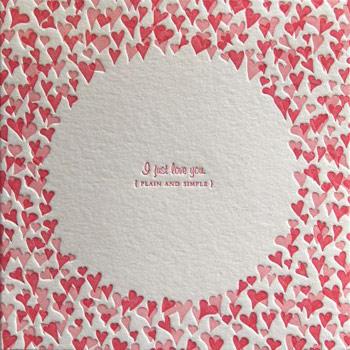 Elum Letterpress Valentine Card