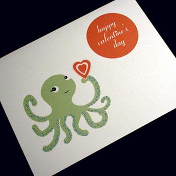 Sugar Lily Octo Love Card