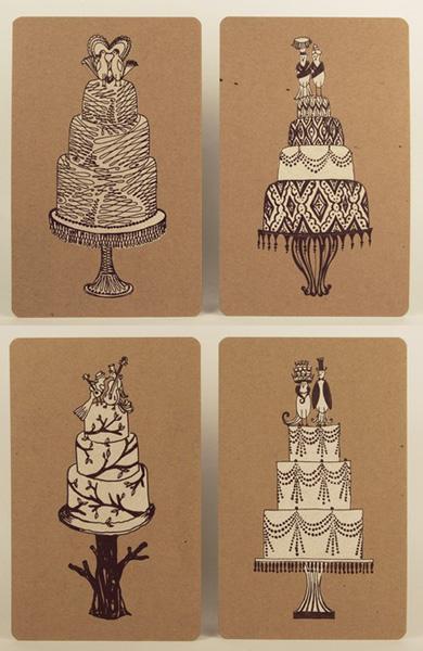 Bird Topper Letterpress Cards