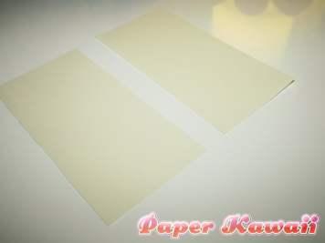 Cut the square in half using the last crease...