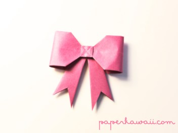 Origami Bow Tutorial – new version