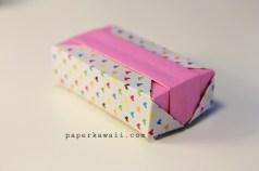 Origami gift box hearts paperkawaii