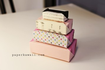 Origami gift box stack paperkawaii