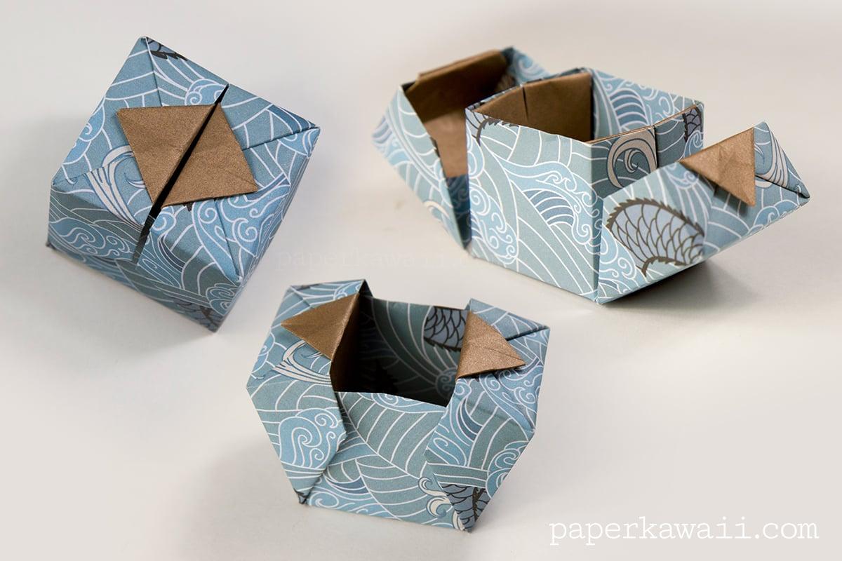 Origami Hinged Box Video Tutorial - Paper Kawaii