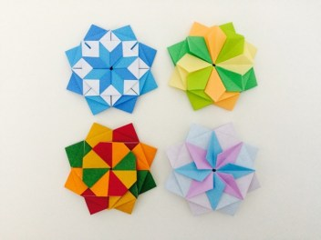 Modular Origami Star of the Four Seasons Instructions