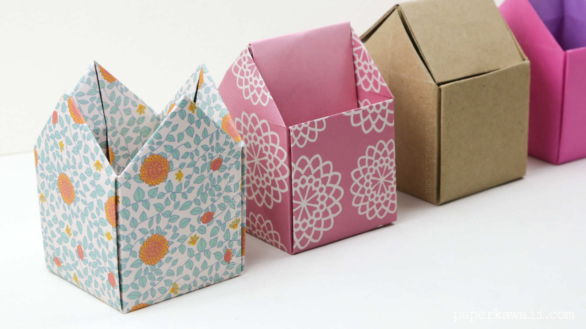 how to make a tall origami box