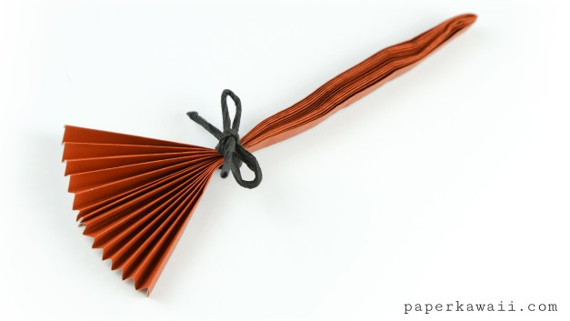 Easy Origami Broomstick Tutorial For Halloween!