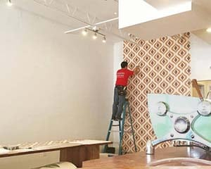 Wallpaper Installer for San Antonio's Top Designers - Paper Moon Painting