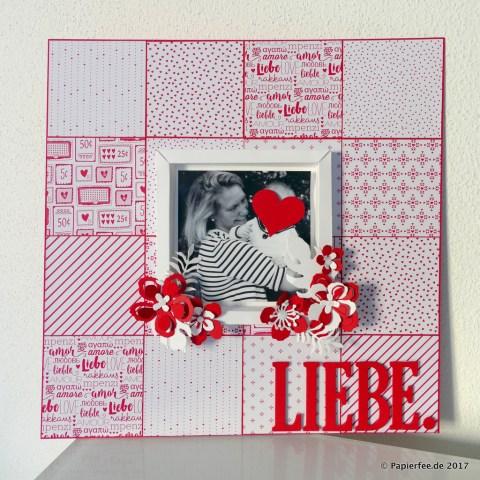 """Stampin'Up!, Layout, Frühjahr-/Sommerkatalog 2017, Valentinstag, Liebe, Designerpapier im Block """"Liebe Grüße"""", BigShot, Framelits """"Pflanzen-Potpourri"""""""