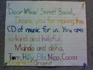 Pisania podziękowań Amerykanie uczą się od małego. Tu jedna z kartek wypisana dziecięcą ręką. zdj. flickr/ Michael Basial