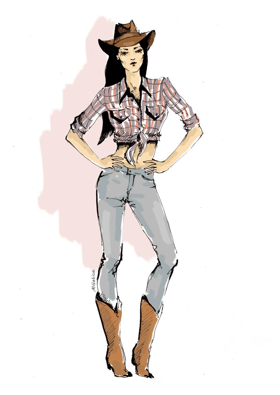 texas style, ubiór teksasu, papuga z usa, magda galica, amerykański styl