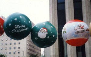 Christmas ornament shape giant helium parade balloons