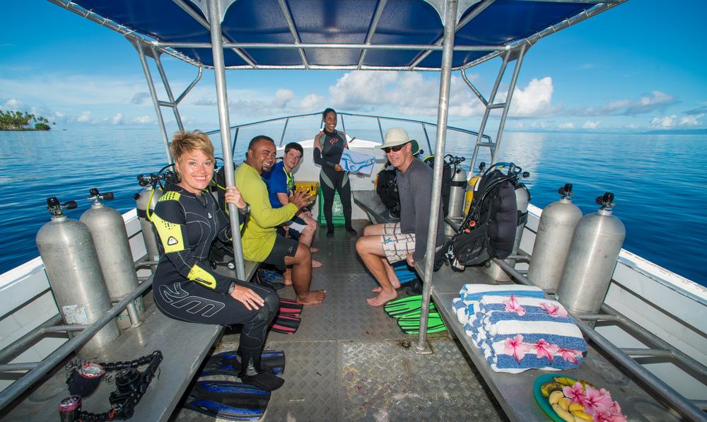 Paradise Taveuni - Dive Site Prep