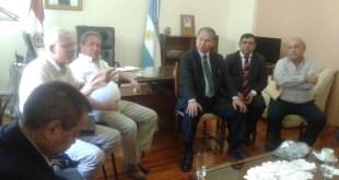 De izq. a derecha: Isidro Méndez Chávez, Andrés Balbuena Rondelli, Andrés R. Herebia,Cónsul Edilberto Cantero, Dr. Inocencio Cuevas y Salomón Ramírez Santacruz