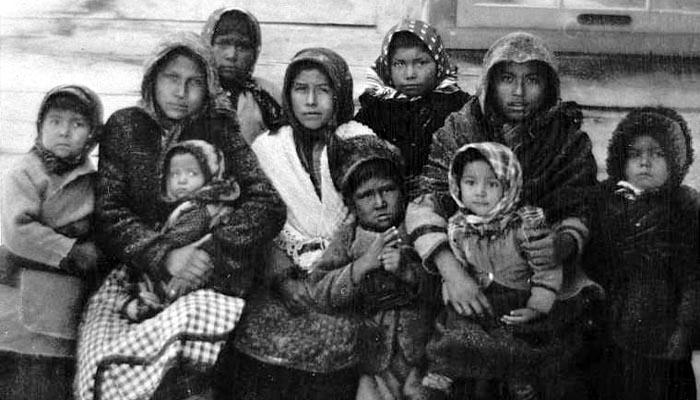 Enfants attikameks en 1900