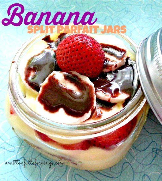 Banana Split Parfait Jars Recipe