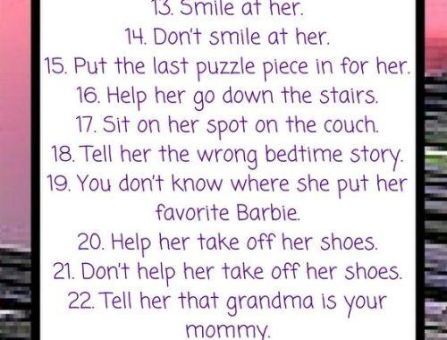 Fun Cheat Sheet For Toddler's Parents