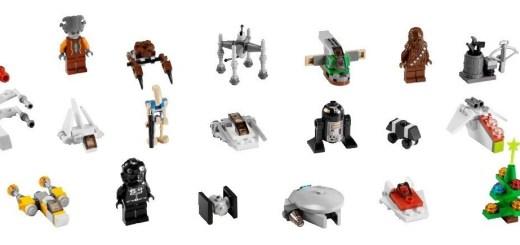Les 24 surprises du calendrier de l'avent Lego Star Wars