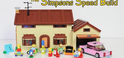 Timelapse de la construction de la maison Lego Simpsons